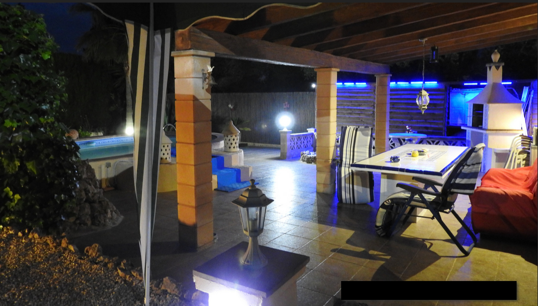 night time Detached Villa with Sea Views For Sale Porto Cristo